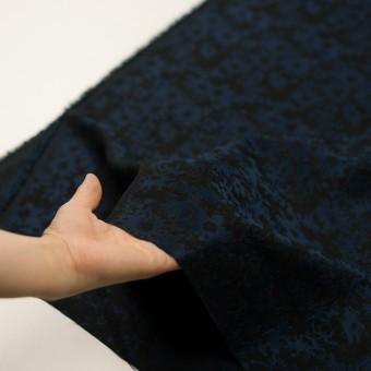 ポリエステル&アクリル混×フラワー(プルシアンブルー&ブラック)×ジャガード_全2色 サムネイル5