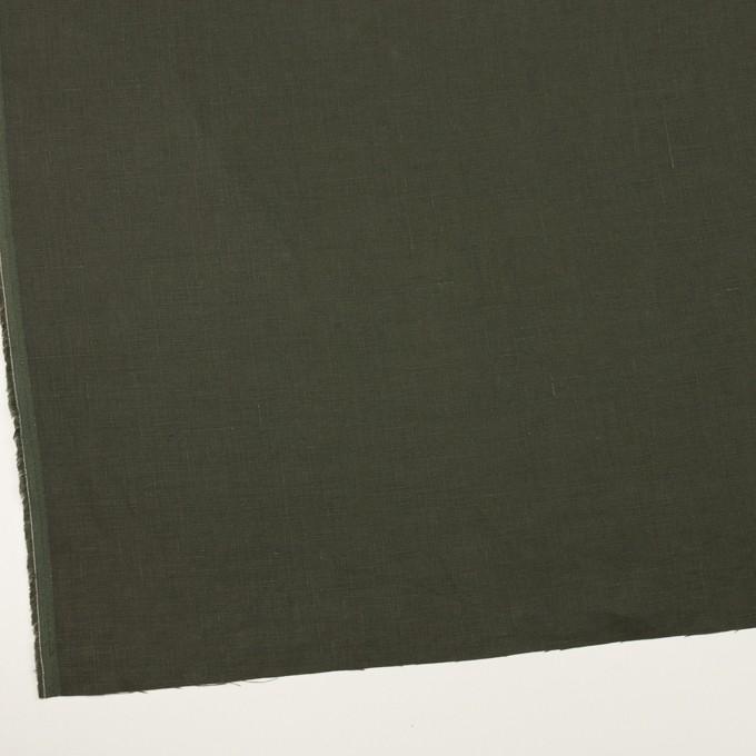 リネン×無地(オリーブグリーン)×薄キャンバス イメージ2