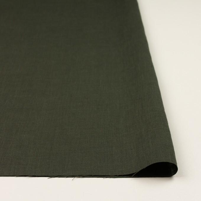 リネン×無地(オリーブグリーン)×薄キャンバス イメージ3