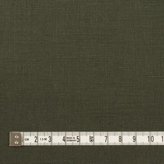 リネン×無地(オリーブグリーン)×薄キャンバス イメージ4