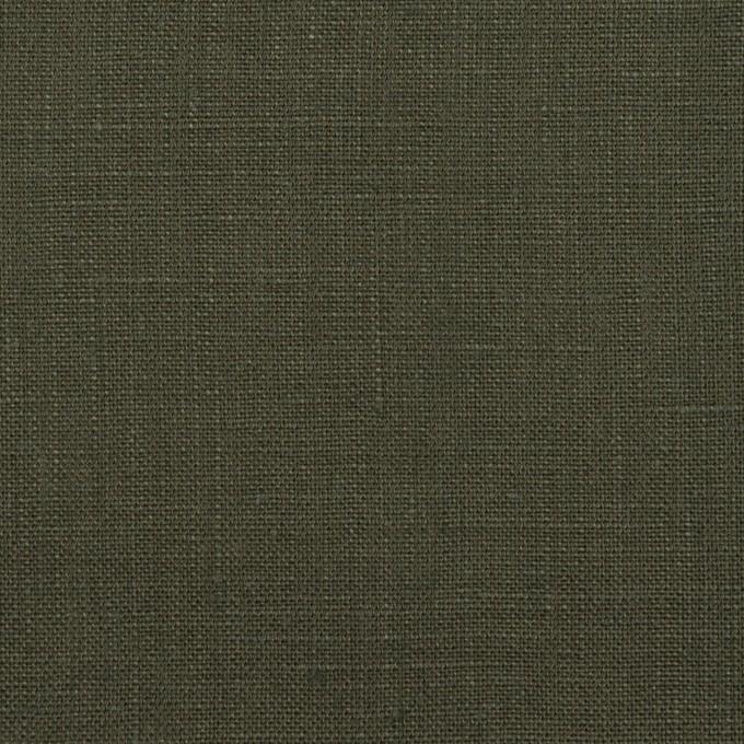 リネン×無地(オリーブグリーン)×薄キャンバス イメージ1