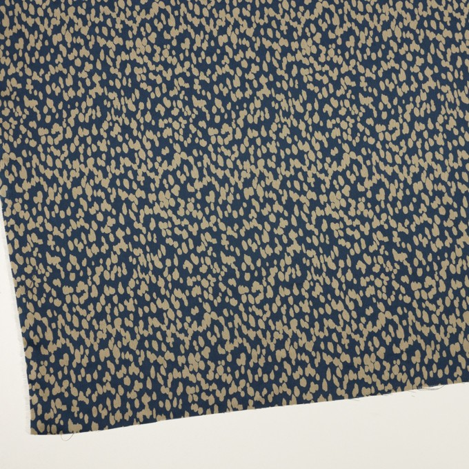ポリエステル×ペイント(ネイビー&グレイッシュベージュ)×サテン イメージ2