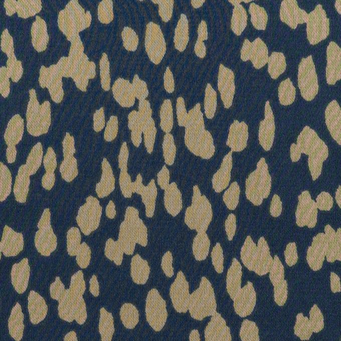 ポリエステル×ペイント(ネイビー&グレイッシュベージュ)×サテン イメージ1