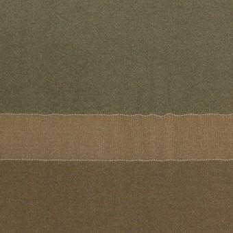 レーヨン&シルク×ボーダー(カーキ)×ローン_パネル サムネイル1