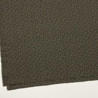 コットン&ポリウレタン×レオパード(アッシュカーキグリーン)×ジャガード・ストレッチ サムネイル2