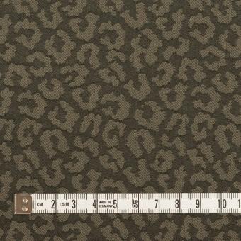 コットン&ポリウレタン×レオパード(アッシュカーキグリーン)×ジャガード・ストレッチ サムネイル4