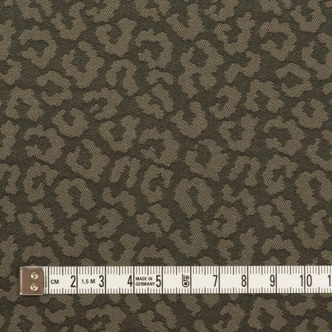 コットン&ポリウレタン×レオパード(アッシュカーキグリーン)×ジャガード・ストレッチ イメージ4