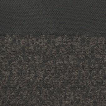 ポリエステル&アクリル×ボーダー(チャコールグレー)×形状記憶サージジャガード