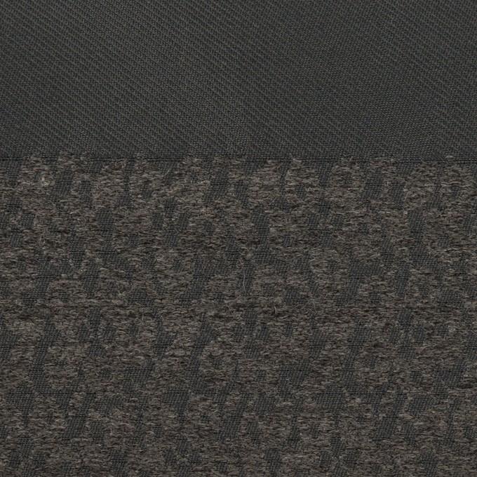 ポリエステル&アクリル×ボーダー(チャコールグレー)×形状記憶サージジャガード イメージ1