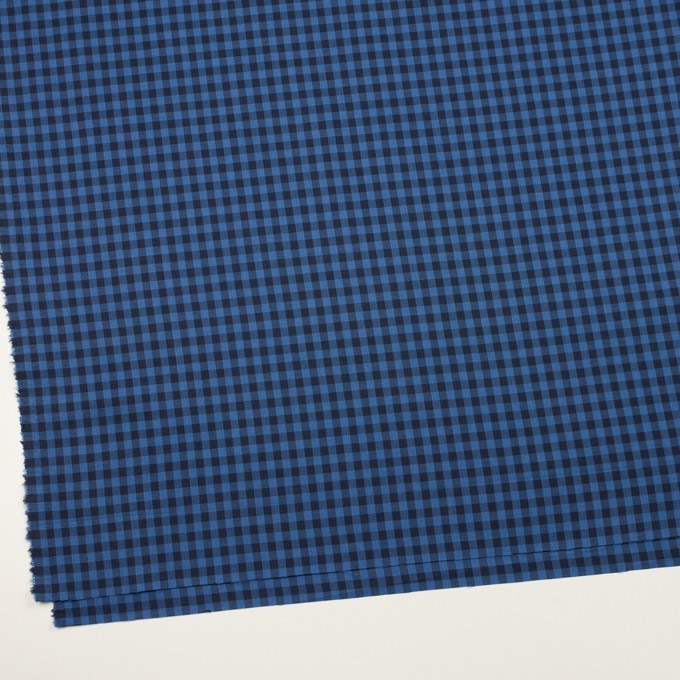 コットン×チェック(マリンブルー&ブラック)×サージ イメージ2