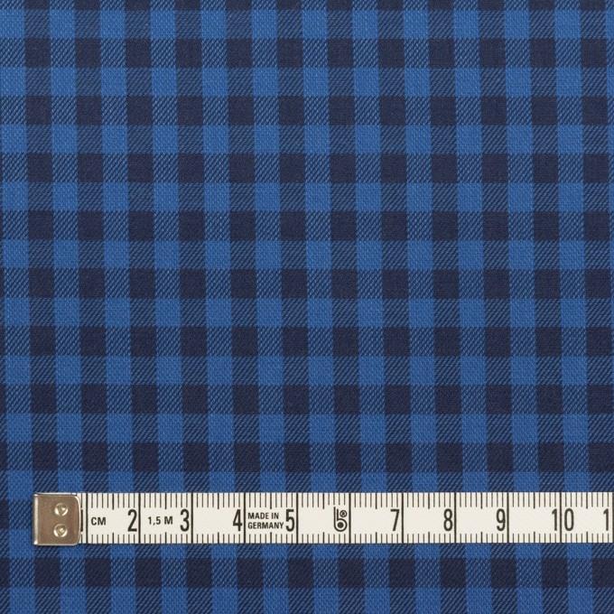 コットン×チェック(マリンブルー&ブラック)×サージ イメージ4