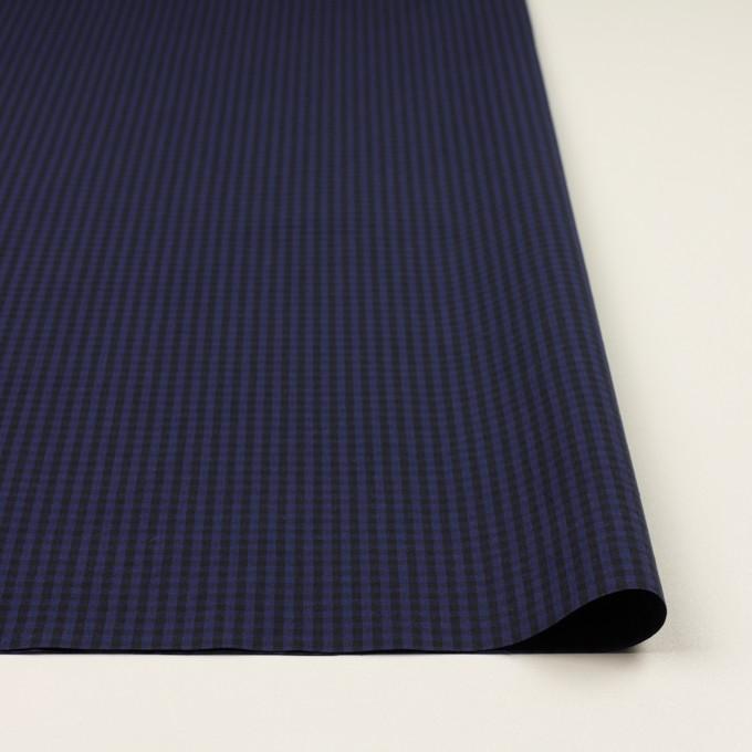 コットン×チェック(プルシアンブルー&ブラック)×ポプリン イメージ3