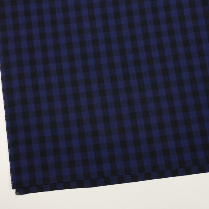 コットン×チェック(プルシアンブルー&ブラック)×ポプリン イメージ2
