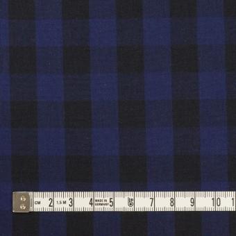 コットン×チェック(プルシアンブルー&ブラック)×ポプリン サムネイル4