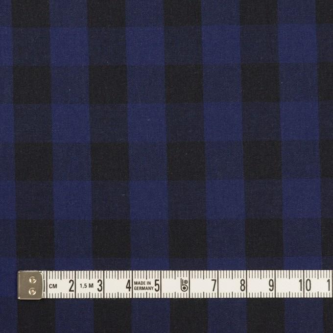 コットン×チェック(プルシアンブルー&ブラック)×ポプリン イメージ4