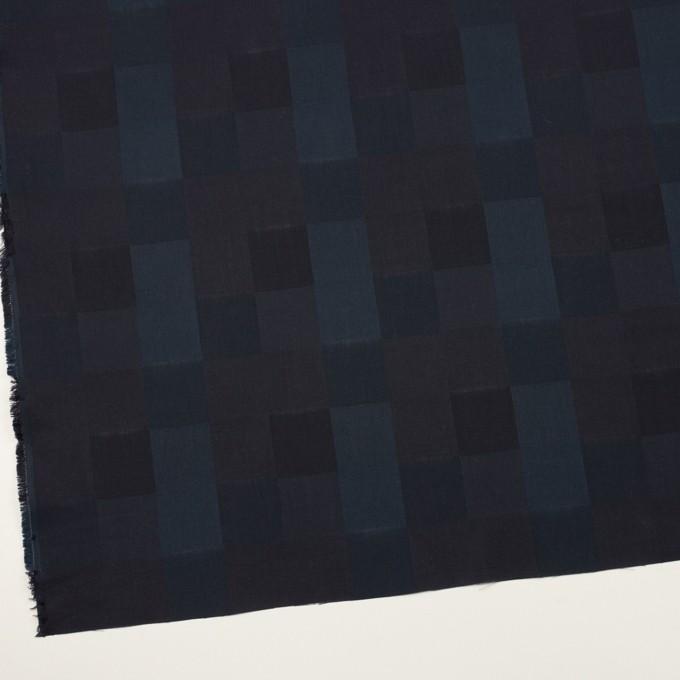 コットン×チェック(バルビゾンブルー&チャコール)×ジャガード イメージ2