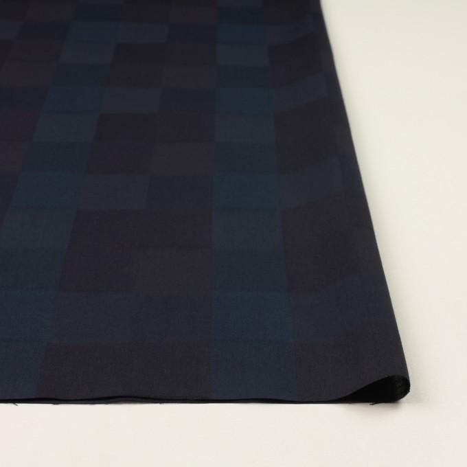 コットン×チェック(バルビゾンブルー&チャコール)×ジャガード イメージ3