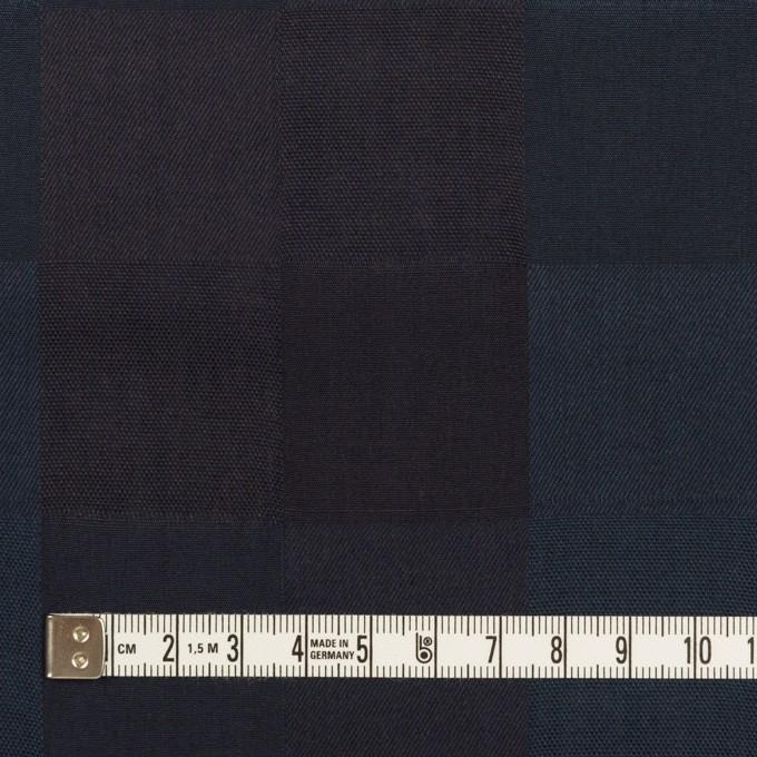 コットン×チェック(バルビゾンブルー&チャコール)×ジャガード イメージ4