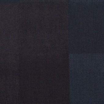 コットン×チェック(バルビゾンブルー&チャコール)×ジャガード サムネイル1