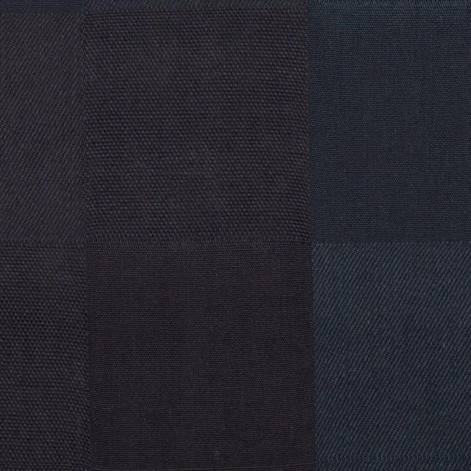 コットン×チェック(バルビゾンブルー&チャコール)×ジャガード イメージ1