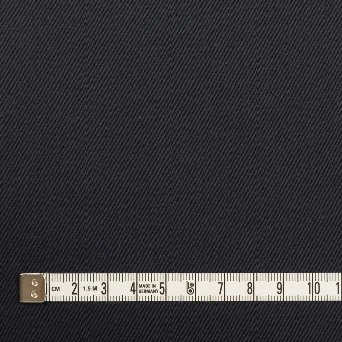 コットン&ポリウレタン×無地(ダークネイビー)×サテンストレッチ イメージ4