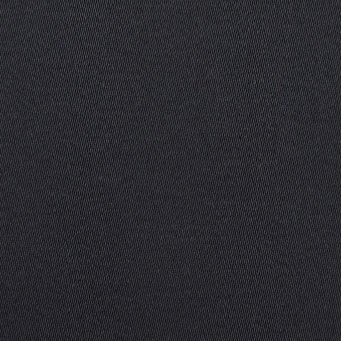 コットン&ポリウレタン×無地(ダークネイビー)×サテンストレッチ イメージ1