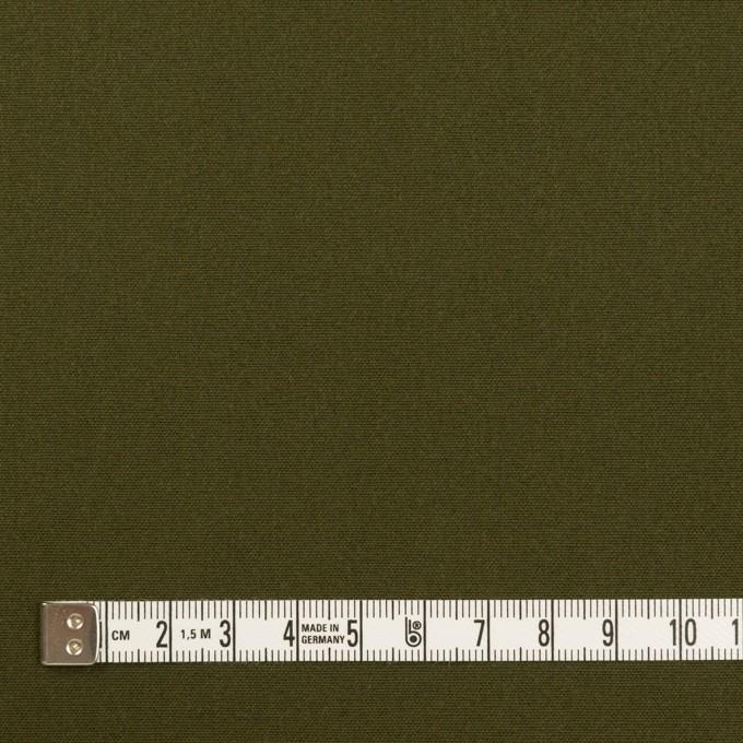 コットン×無地(ダークカーキグリーン)×キャンバス イメージ4