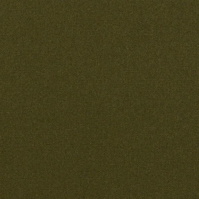 コットン×無地(ダークカーキグリーン)×キャンバス イメージ1