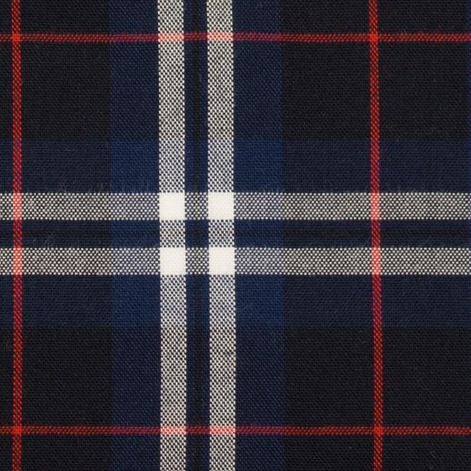コットン×チェック(ネイビー&ブラック)×オックスフォード イメージ1