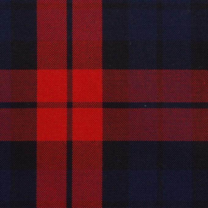 コットン×チェック(ネイビー&レッド)×オックスフォード イメージ1