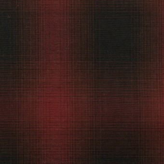 コットン×チェック(バーガンディー&ブラック)×ローン