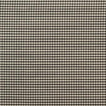 コットン&シルク×チェック(アイボリー&ブラック)×千鳥格子