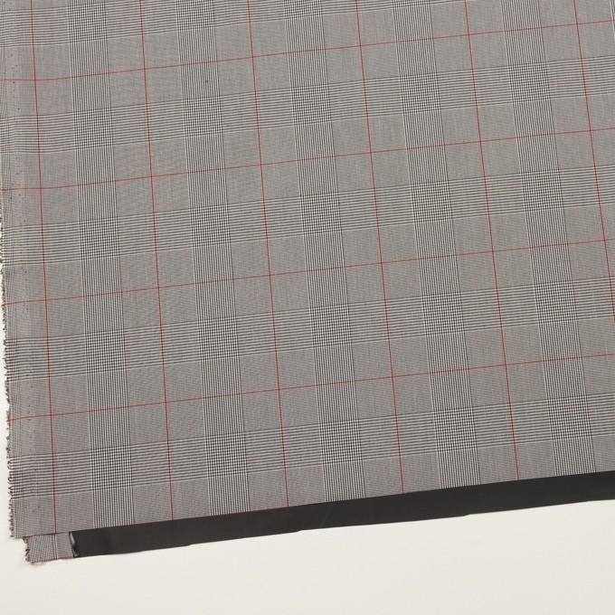 コットン&ポリウレタン×チェック(チャコールグレー)×ローンストレッチ(ボンディング) イメージ2