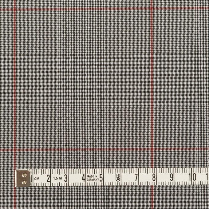 コットン&ポリウレタン×チェック(チャコールグレー)×ローンストレッチ(ボンディング) イメージ4