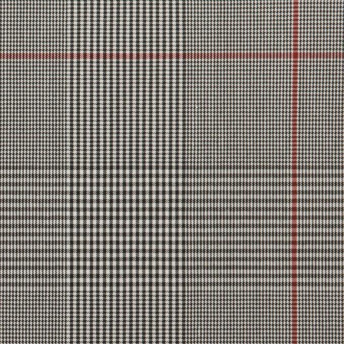 コットン&ポリウレタン×チェック(チャコールグレー)×ローンストレッチ(ボンディング) イメージ1