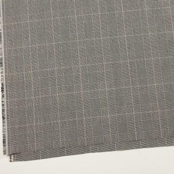 コットン&ポリウレタン×チェック(チャコールグレー)×千鳥格子ストレッチ サムネイル2