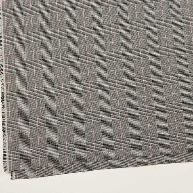 コットン&ポリウレタン×チェック(チャコールグレー)×千鳥格子ストレッチ イメージ2