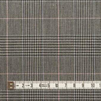 コットン&ポリウレタン×チェック(チャコールグレー)×千鳥格子ストレッチ サムネイル4