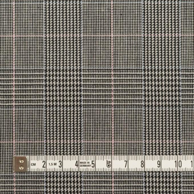 コットン&ポリウレタン×チェック(チャコールグレー)×千鳥格子ストレッチ イメージ4