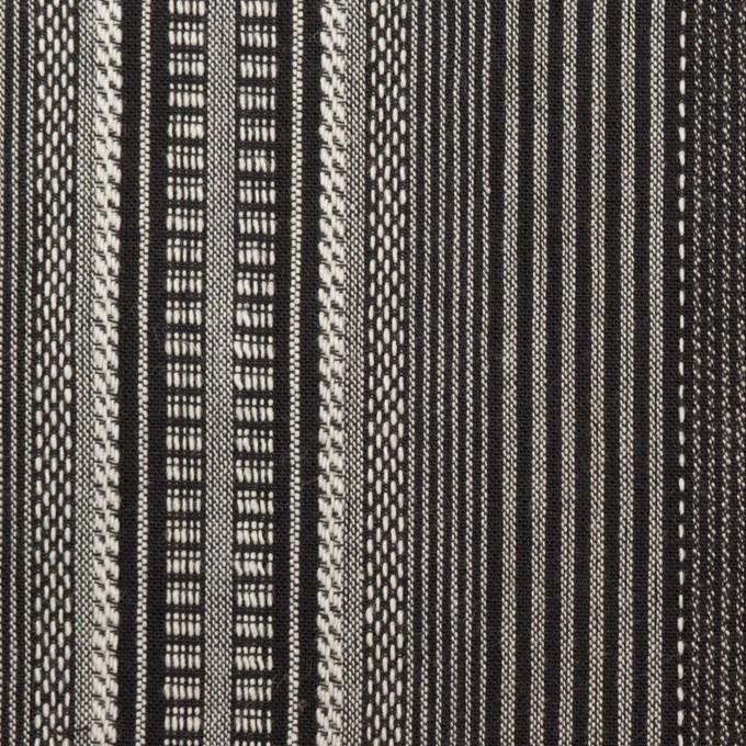 コットン×ストライプ(チャコールグレー)×ジャガード イメージ1