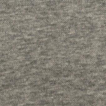 コットン×無地(チャコールグレー)×裏毛ニット サムネイル1