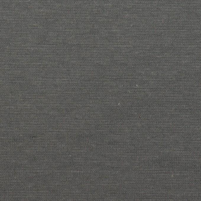 コットン&リネン×無地(スチールグレー)×天竺ニット イメージ1