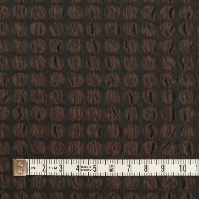 ポリエステル×サークル(アプリコット&ブラック)×シャンブレータフタ_塩縮加工 イメージ4