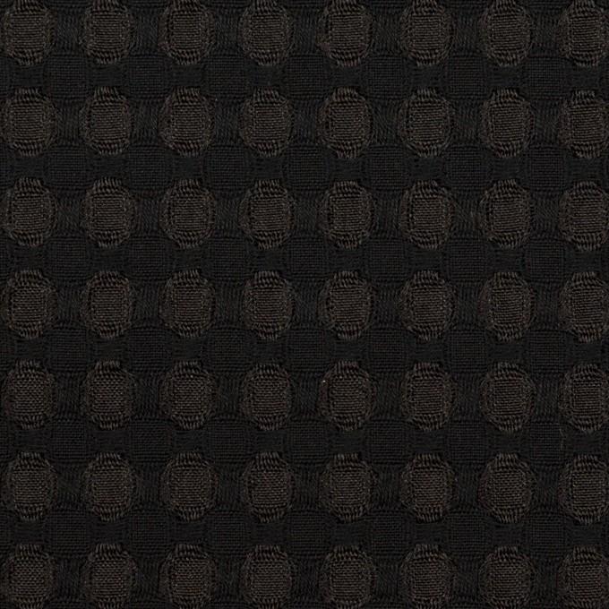 ポリエステル×サークル(ブラック)×ジャガード イメージ1