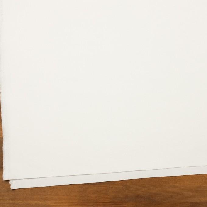 コットン&ポリウレタン×無地(ホワイト)×フランネル・ストレッチ イメージ2