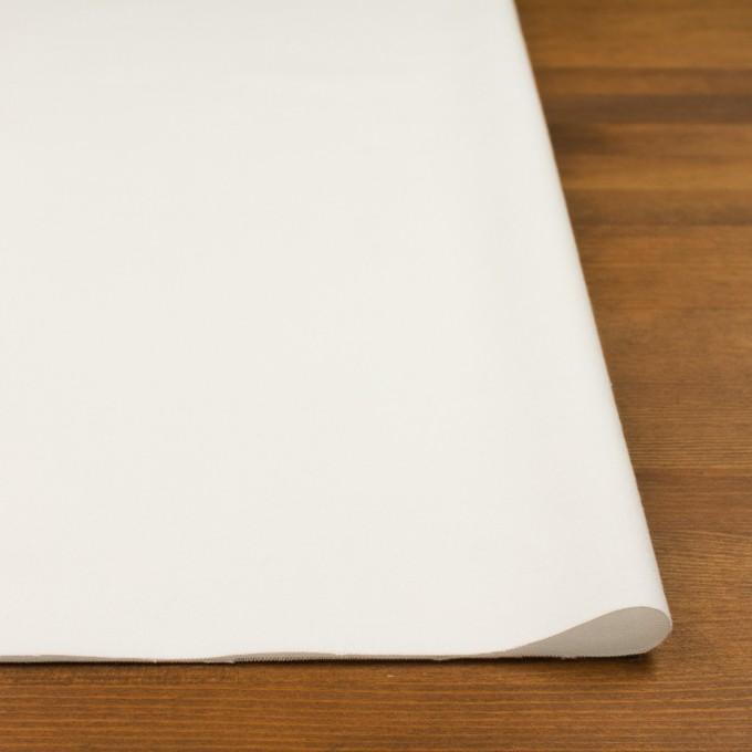 コットン&ポリウレタン×無地(ホワイト)×フランネル・ストレッチ イメージ3