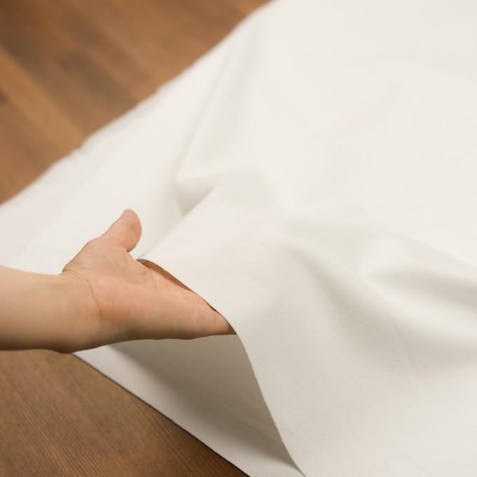 コットン&ポリウレタン×無地(ホワイト)×フランネル・ストレッチ イメージ5