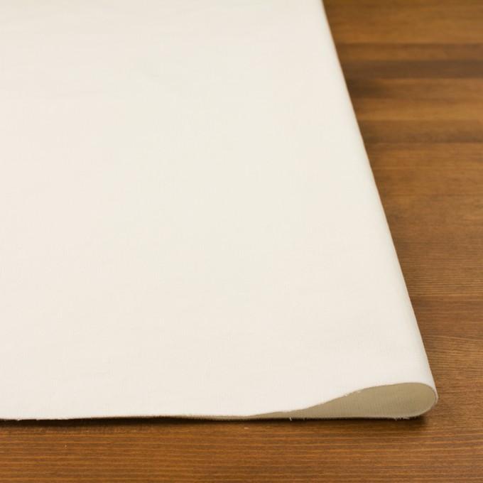 コットン&ポリウレタン×無地(ミルク)×細コーデュロイ・ストレッチ イメージ3