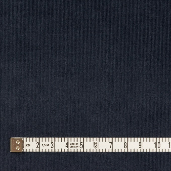 コットン&ポリウレタン×無地(アッシュネイビー)×細コーデュロイ・ストレッチ イメージ4
