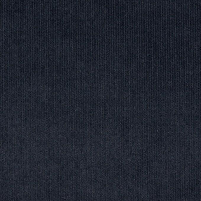 コットン&ポリウレタン×無地(アッシュネイビー)×細コーデュロイ・ストレッチ イメージ1